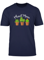 Womens Plant Mom Plants Lover Cactus Succulent Apparel Design T Shirt
