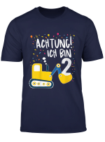 Kinder Bagger 2 Shirt Geburtstag 2 Jahre Jungen Baustelle T Shirt