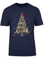 Cute Irish Wolfhound Dog Christmas Tree Gift Decor Xmas Tree T Shirt