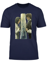 Outlander Jamie And Claire Barrier Poster T Shirt