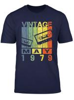 Vintage Retro May 1979 T Shirt 40Th Birthday Gift Tee