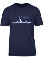 Herzschlag Angler Angel Fischen Geschenk T Shirt