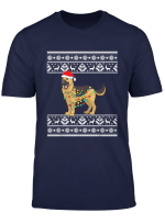 Funny Christmas Lights German Shepherd Santa Men Women Gift T Shirt
