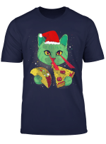Galaxy Laser Cat Space Pizza Cat With Lazer Eyes T Shirt