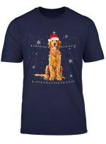 Santa Golden Retriever Christmas Lights Shirt Xmas Gift T Shirt