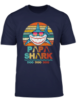 Retro Vintage Papa Shark Tshirt Gift For Father