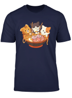Kawaii Cute Anime Cats Otaku Japanese Ramen Noodles Gift T Shirt