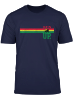 Reggae Music Rastafari Bless Up Lion Of Judah Rasta Gift T Shirt