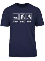 Triathlon Schwimmen Laufen Fahrrad Radfahren T Shirt