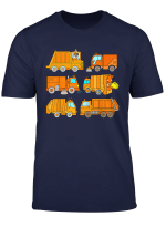 Trash Trucks Garbage Truck Rubbish Collection Kids Boys T Shirt
