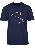 Silhouette Of The Girl And Horse T Shirt For Men Women Girls