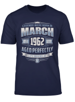 March 1962 Vintage 57Th Birthday 57 Years Old Gift T Shirt