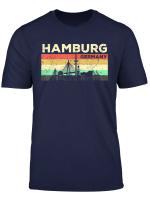 Mein Hamburg Skyline Deutschland Heimat Stadt Souvenir T Shirt