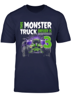 Kids This Monster Truck Driver Is 3 Birthday T Shirt For Boy