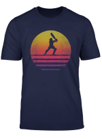Retro Vintage Sunset Old School Cricket Sport Funny Gift T Shirt