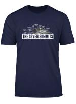 Seven Summits Bergsteiger Kletter Wandern Geschenk T Shirt