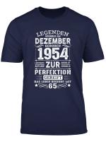 Geschenk Zum 65 Geburtstag Jahrgang 1954 Dezember Gift T Shirt