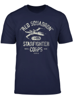 Star Wars X Wing Red Squadron Distressed Text T Shirt