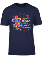 Autism Awareness T Shirt Colour Outside The Line