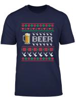 Ugly Christmas Bier Biertrinker Alkohol Sweater Geschenk T Shirt
