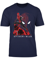 Marvel Spider Man Far From Home Portrait Tech Background T Shirt