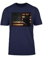 Black German Shepherd Shirt American Flag 4Th July Gsd Dog T Shirt