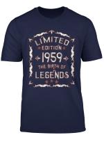 Geboren 1959 Lustiges Geschenk Zum 60 Geburtstag T Shirt