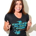 Be Excellent To Each Other Abe Lincoln Bill And Ted'S Excellent Adventure Abraham Lincoln Dark Heather Women T-Shirt S-3Xl