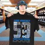 Luke Kuechly 59 Carolina Panthers 2012 2019 Thanks For The Memories Luke August Kuechly Black Men And Women T Shirt S-5Xl