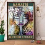 Namaste Mother Fucker Meditate Vintage Home Decor Family Gift Vertical Poster Poster And Canvas