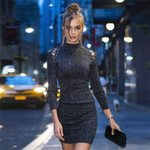 Autumn Winter Knitted Bodycon Dresses
