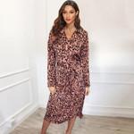 Animal Leopard Print  Elegant  Slim Party Dresses