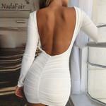 Backless Wrap Bodycon Low Cut Sexy Club Dress