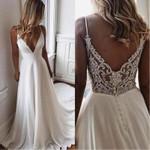 A Line Simple White Bride Wedding Dress