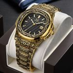 brand luxury Retro copper stainless steel watches quartz