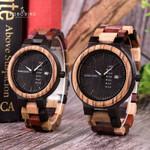 Luxury Wood relogio masculino Designer Auto Date Colors Watches
