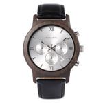Wooden watch with Date Display Stopwacth de luxo slim Quartz