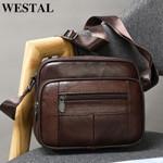 genuine leather casual shoulder bag