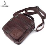 Genuine Cowhide Leather Shoulder Bag Small Messenger