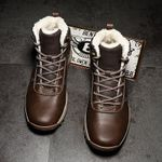 Genuine Leather Shoes Warm Snow Boots Vintage British Style