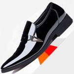 White Loafers Formal Wedding Suit Leather Shoes Slip On Pointed