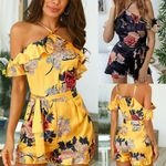 Ladies Jumpsuit Sexy Sleeveless Romper Off Shoulder Bodycon