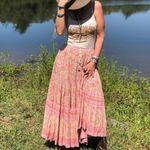 maxi boho skirt Rayon floral print a-line Elastic waist skirts