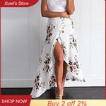 long Skirt Sexy Boho Skirts Asymmetrical Split Ends