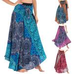 Long skirt Hippie Bohemian Gypsy Boho Flowers Elastic
