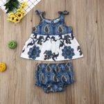 Newborn Infant Kids Baby Girl Floral Tops