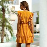 New Boho Ruffle Dress Polka Dot Shorts Sleeve Beach