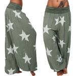 Bohemian Boho Pants High Waist Casual Loose Wide