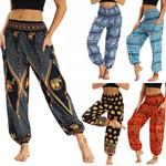 Bohemian  Pants Casual High Waist Thai Harem
