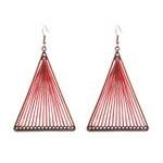 Vintage Triple-Cornered Dangle Boho Bohemian Ethnic Drop Earrings
